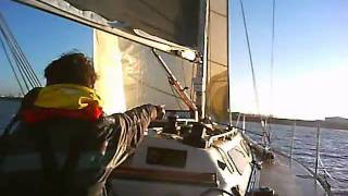 preview picture of video 'Yacht Race, Portishead, Winter Series Race 5, Blue Pearl'