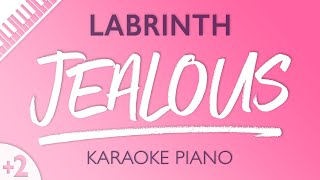 Jealous (Higher Key   Piano Karaoke Instrumental) Labrinth