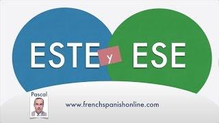 Como decir Este y Ese en Francés