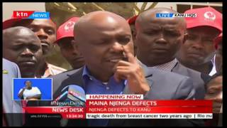 KANU Chairman and Baringo Senator Gideon Moi drums up support for Maina Njenga's Laikipia bid