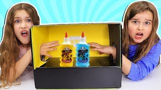 WHAT'S IN THE BOX Slime Challenge!! | JKrew