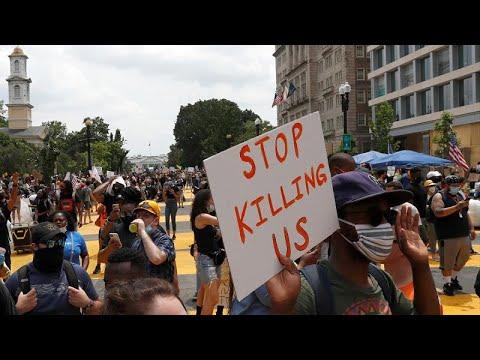 ΗΠΑ: Κηδεύτηκε ο Τζορτζ Φλόιντ, συνεχίστηκαν οι διαδηλώσεις…
