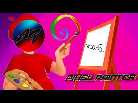 Притворяюсь ребёнком в Pixel painter | Новогодняя речь Growton'a
