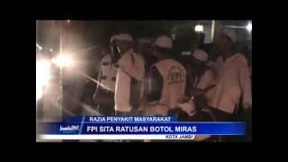 Razia Penyakit Masyarakat FPI Sweeping Warung Dan Cafe