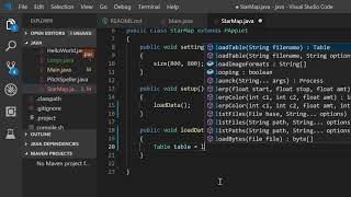 Visualising a dataset using Java & processing Part 1