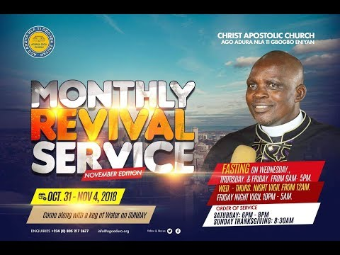 Monthly Revival Service 31/10/2018