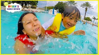 Disney Swimming Pool and Hotel Tour Playtime with Ryan's Family Review!