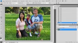 Смотреть онлайн Как в фотошопе убрать лишние предметы