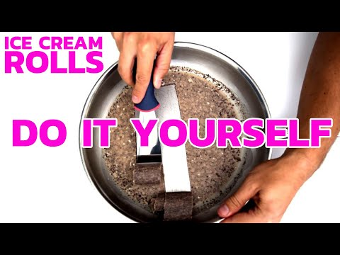 Video ICE CREAM ROLLS - DIY RECIPE | How to make Ice Cream Rolls at home - with Oreo & Brownie