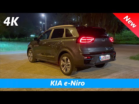 KIA e-Niro 2021 - FIRST look at NIGHT in 4K | Exterior - Interior, Ambient Lights, LED Headlights
