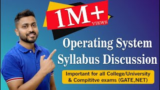 Lec-0: Operating System Syllabus Discussion for GATE and UGC Net