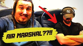 I SAT NEXT TO AN AIR MARSHAL!!?? (Crazy Travel Story)
