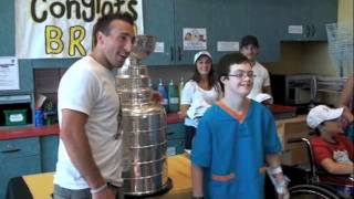Brad Marchand brings the Stanley Cup to the IWK