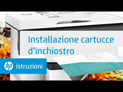 Come installare le cartucce d'inchiostro nelle stampanti per grandi formati della serie HP OfficeJet Pro 7720/7730/7740 All-in-One