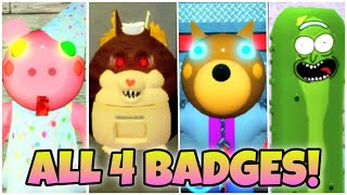 How To Get ALL 4 BADGES In ACCURATE PIGGY ROLEPLAY BY TENUOUSFLEA - ROBLOX