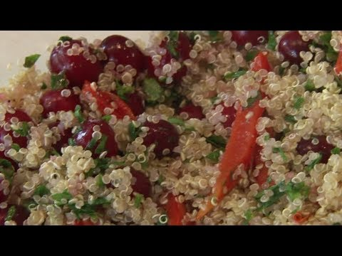 Quinoa cranberry salad cooking demonstration