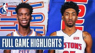 THUNDER At PISTONS | FULL GAME HIGHLIGHTS | March 4, 2020