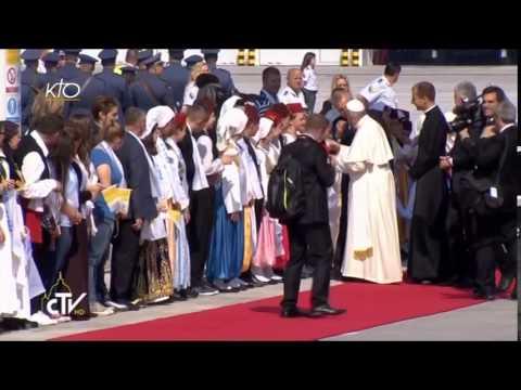 Accueil du Pape François à Sarajevo