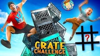 CRATE CHALLENGE [Demonetized] + Worst Tic Tac Toe Idea EVER! (FV FAMILY Day of Challenges)