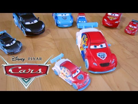 DISNEY PIXAR CARS ICE DRIFTERS 4 CAR RACE AND CRASH WHILE DRIFT RACING! PETROV MCQUEEN HAMILTON
