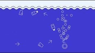 Bolhas de ar contra lixo plástico em rios e canais