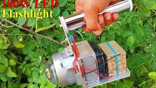 DIY 100W LED flashlight. ทำไฟฉาย LED 100W