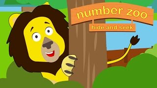 Number Zoo Hide and Seek Part 1 | Animals For Kids | Toddler Fun Learning