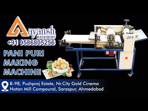 Semi Automatic Chat Puri Making Machine