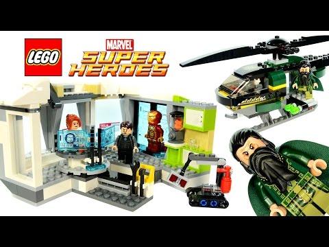 Vidéo LEGO Marvel Super Heroes 76007 : Iron Man : l'attaque de la villa de Malibu