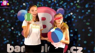 GYMDUO Barča&Verča | Chyť míč se zavázanýma očima