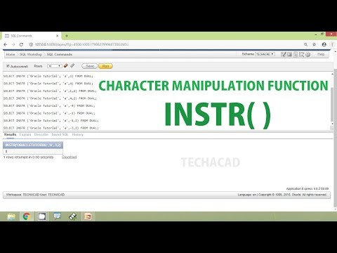 Oracle Tutorial - Character Manipulation Function INSTR