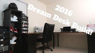 "My ""IKEA HACK"" Desk Setup! 2016!"