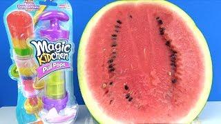 Karpuzlu dondurma yaptık Magic Kidchen dondurma yapma oyuncağı ile gerçek rengarenk buzlu dondurma
