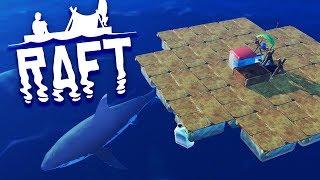 SURVIVAL BEGINS! Raft Survival Episode 1