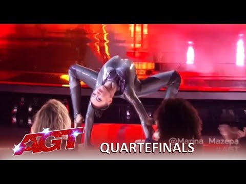 Marina Mazepa: CREEPY and SEXY Girl Has Judges Fighting Each Other | America's Got Talent 2019 (видео)