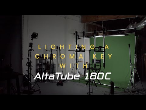 Lighting A Chroma Key with AltaTube 180C