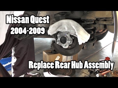 How to replace a rear wheel hub assembly on a Nissan Quest