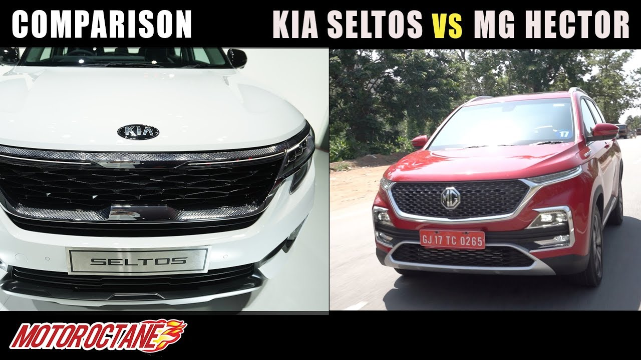 Motoroctane Youtube Video - Kia Seltos vs MG Hector Comparison | Hindi | MotorOctane