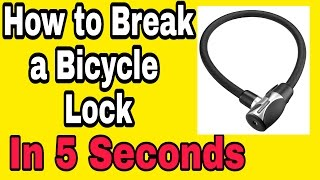 HOW TO OPEN CYCLE LOCK IN 5 SECONDS!
