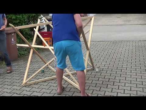 Große Holz-Merkaba für den Garten und Grünanlagen - Anleitung praktisch
