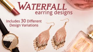 How To Make 30 Easy Beaded Fringe Earrings In Brick Stitch - DIY Live Tutorial Video