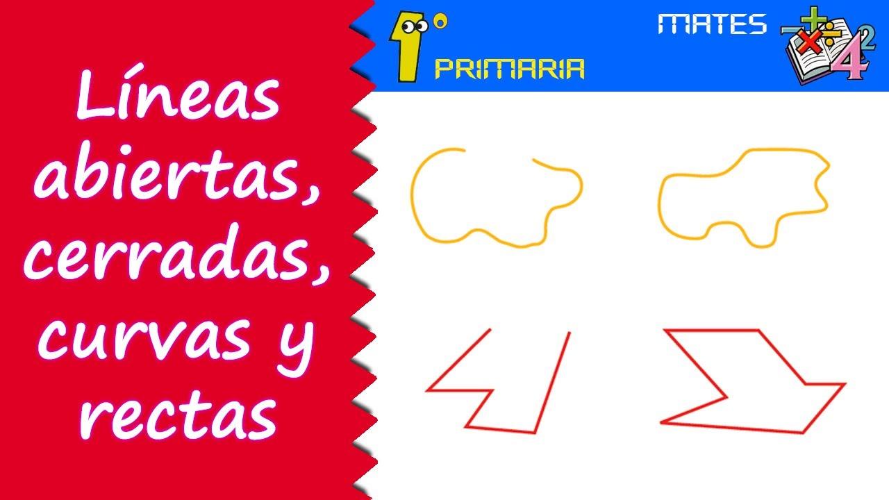 Matemáticas. 1º Primaria. Tema 4: Líneas abiertas y cerradas, curvas y rectas