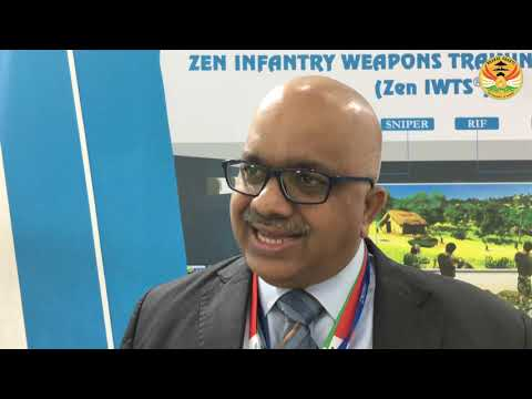 Prime Minister Narendra Modi fires Zen Technologies' Simulator Rifle at DEFEXPO 2020