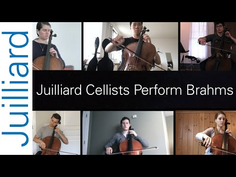 Performing Brahms with fellow Juilliard Cellists