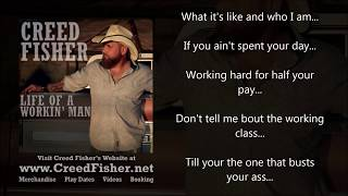 Creed Fisher - Life Of A Workin' Man (Lyric Video)