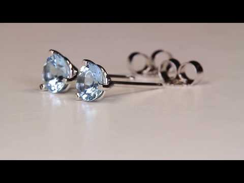 Aquamarine Earrings .77 Carat