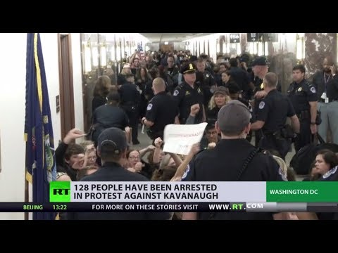 Capitol Hill demonstration: 128 arrested in protest against Kavanaugh