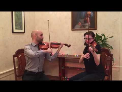 This is my husband and me playing duets together. We love chamber music!