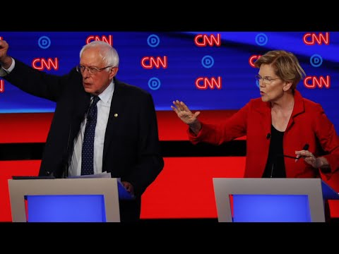 The signature domestic proposal by the top progressive candidates for the Democratic presidential nomination was attacked by moderates. Senators Elizabeth Warren and Bernie Sanders defended