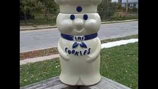 Vintage 1973 Ceramic Pillsbury Doughboy Cookie Jar Collectible Used